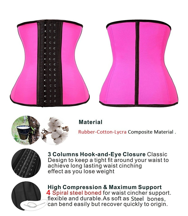 NINGMI Women Waist Trainer Rubber Latex Modeling Belt Weight Loss Corrective Underwear Corset Cincher Sexy Hourglass Body Shaper (23)