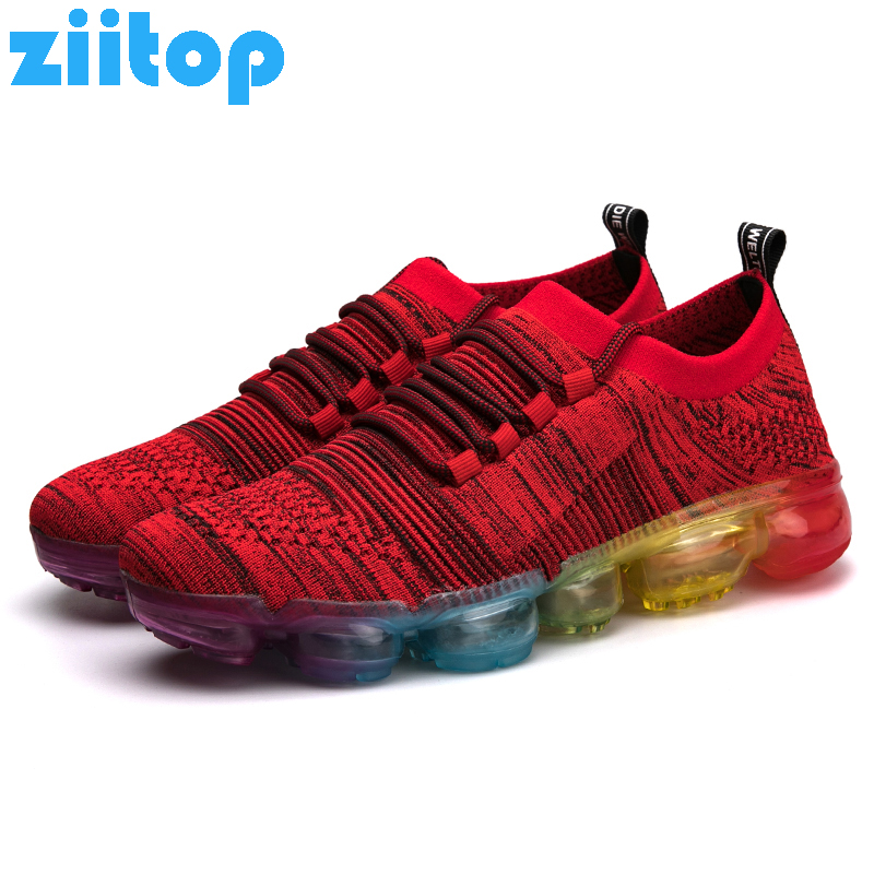 Ziitop Men Running Shoes Lace Up Athletic Sport Shoes Men Outdoor Sneakers Men Trail Running Shoes zapatillas hombre deportiva