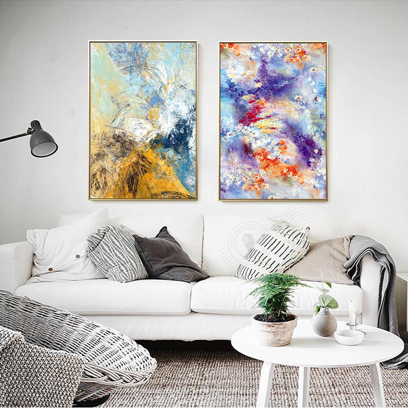 pintura de la lona decoracin para el hogar europeo flores freehand impresin decoracin cartel de la