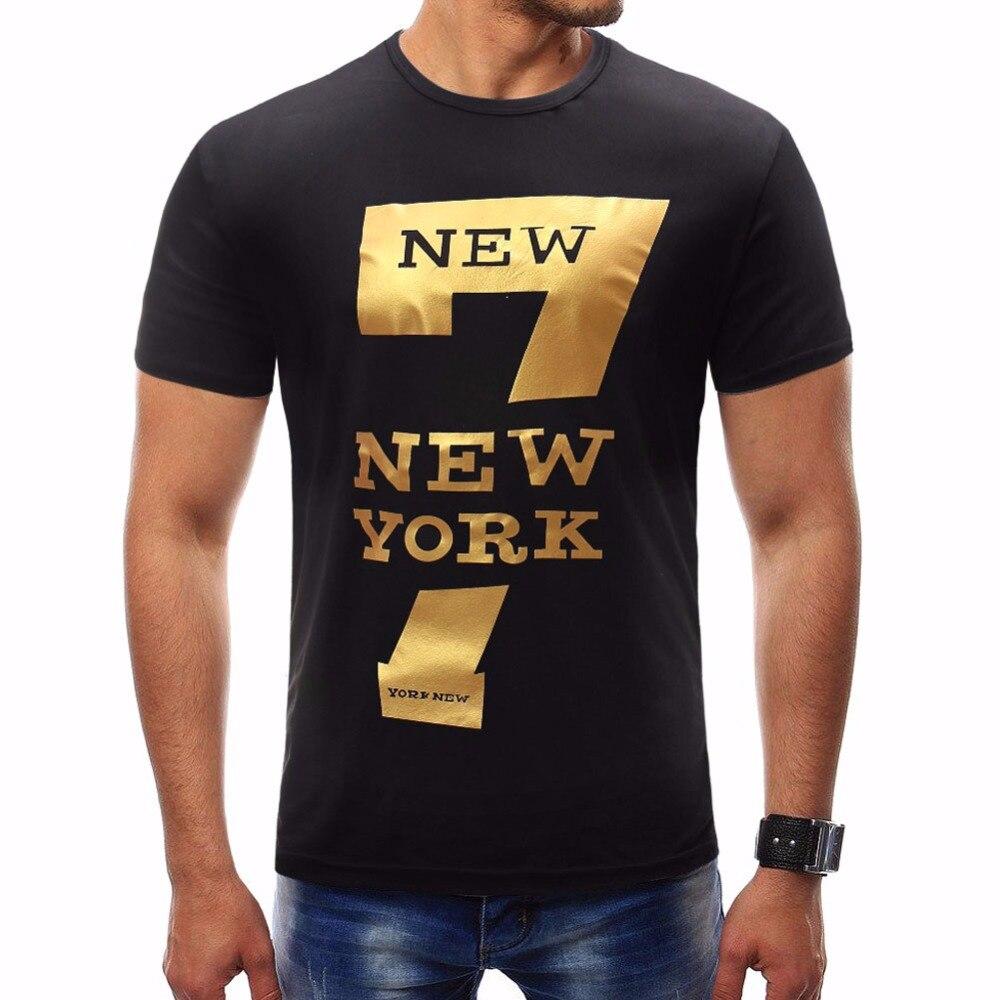 Male 2018 Brand Short Sleeve Print   T     Shirt   O-Neck Slim Men   T  -  Shirt   Tops Fashion Mens Tee   Shirt     T     Shirts   Plus Size 4XL JGH
