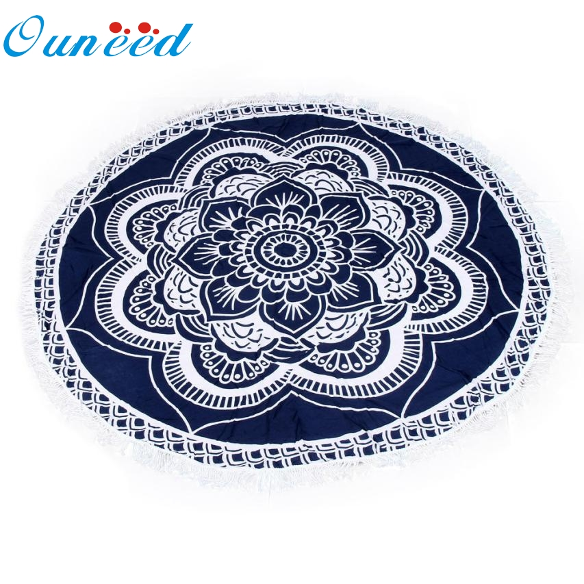 Round Beach Pool Home Shower Towel Blanket Table Cloth Yoga Mat Ma10 Levert Dropship