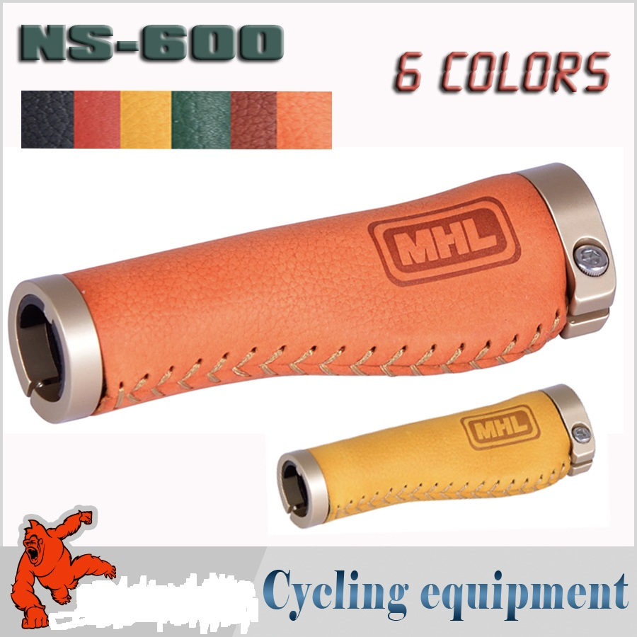 2017 hot MHL bicycle grips high quality cycling bike handlebar grips mtb leather grip NS-600 aluminum alloy bike parts easydo cycling lockable handle grip for bicycle mtb road bike handlebar bicycle grip bike aluminum alloy rubber bike grips sale page 3