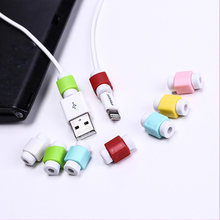 10pcs/lot Cute Cable earphones Protector For iPhone Sansung HTC USB Colorful Data Charger Earphone Cable Cover protetor(China)