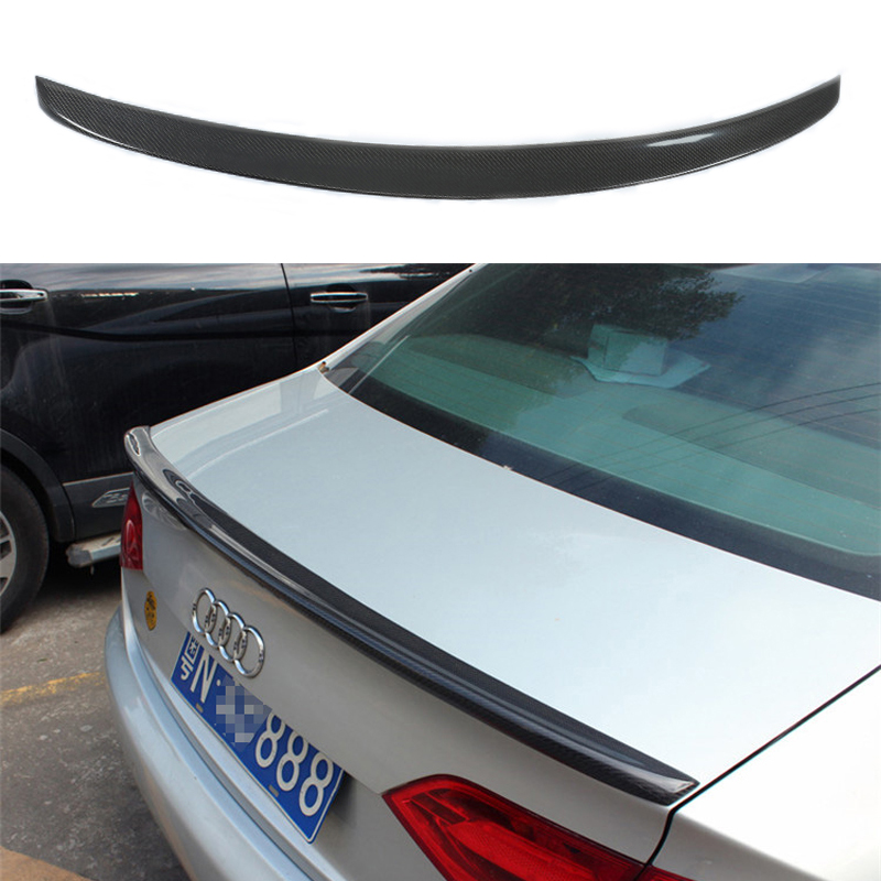 For Audi S4 Style A4 B8 Carbon Fiber Rear Spoiler Trunk wing 2009 2010 2011 2012