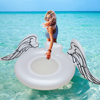 110cm Inflatable Angel Wings Giant Pool Float Toy Water Float Inflatable Mattress Swimming Ring Tube Raft Beach Sea Party Flamin