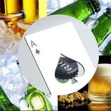 Stainless Steel Beer Bottle Opener Poker Card Ace of Spades Bar Kitchen