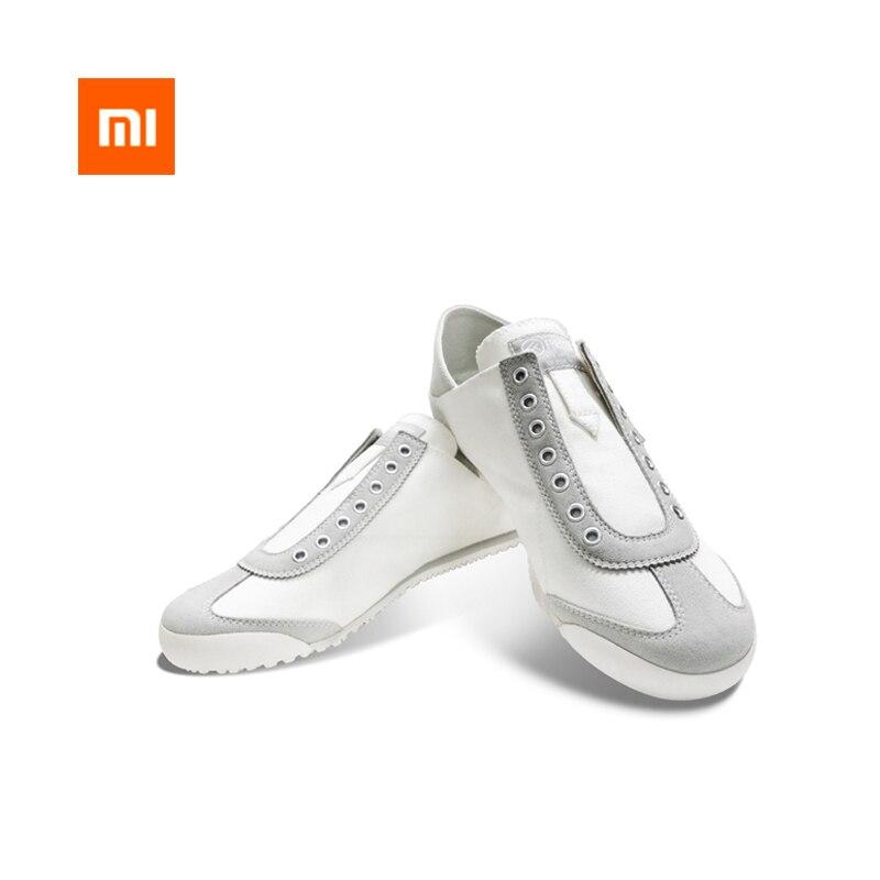 Nouveau Xiaomi Youpin FREETIE deux décontracté chaussures de toile Une paire de chaussure toile supérieure en caoutchouc semelle amorti rebond intelligent