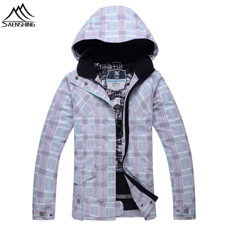 SAENSHING Ski Jacket Women Snowboard Jacket Waterproof Breathable Winter Snow Coat for Outdoor Mountain Skiing Snowboarding Wear hot sale women ladies snowboard jacket waterproof breathable ski jacket female winter snow coat sport motorcycle anorak clothes