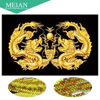 Meian Special Shaped Diamond Embroidery Dragon Vermilion 5D Diamond Painting Cross Stitch 3D Diamond Mosaic Decoration