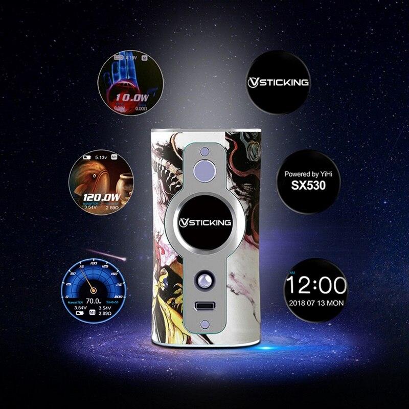 D'origine VSTICKING VK530 Boîte Mod 200 W Alimenté Par Double 18650 Batteries Fit 510 Fil Vaporisateur Réservoir Vaporisateur Anti- sec Combustion Tech - 6