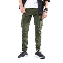 2018 Spring Cargo Pants Men Japan Style Trousers Zipper Fly High Quality Mens Joggers Military Cotton