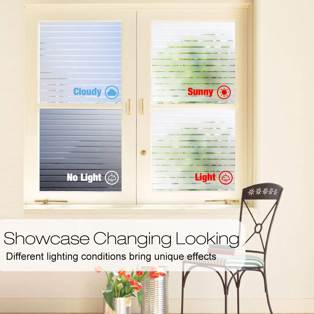 Funlife width 30 45 60cm non sticky static glass window sticker office meeting room privacy glass film decorative window film in Decorative Films from Home Garden