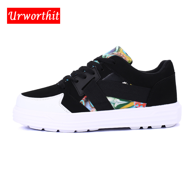 2018 Unisex Lover Women Casual Shoes Suede Board Lace Up Plus Size 44 Shoes Female Flats Lady Sneakers Fashion Creepers Shoes
