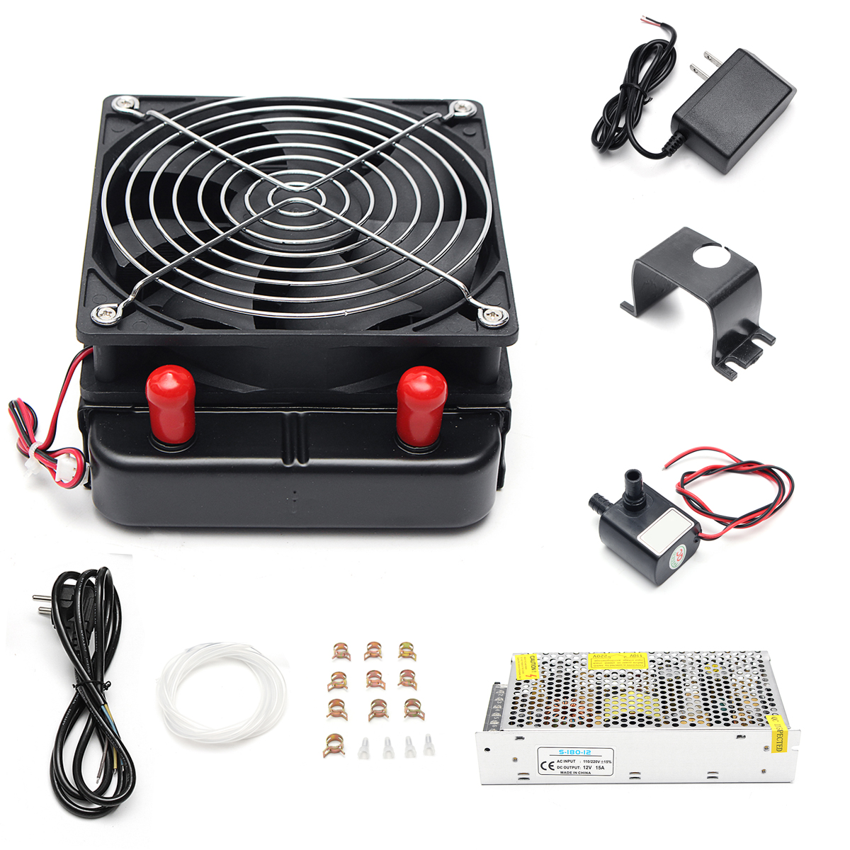 12V DIY Semiconductor Thermoelectric Peltier Refrigeration Cooling System Kit Dual Chip for Air Conditioner Computer CPU Cooler ks214 12v 240w semiconductor electronic peltier chip water cooling refrigeration small pet air conditioner aluminum radiator