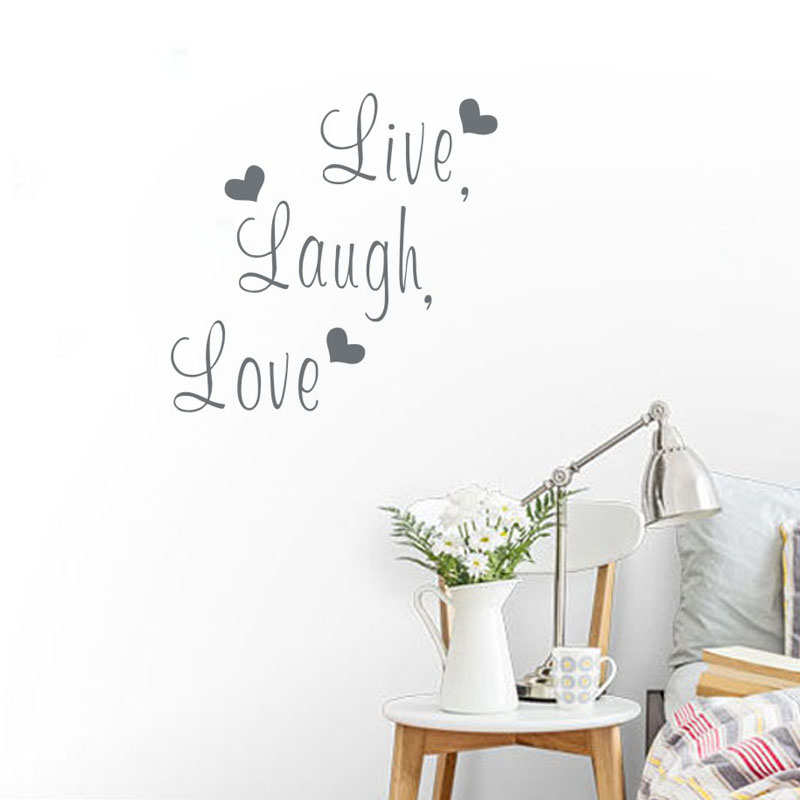 Free Shipping: Live Laugh Love Quote Wall Stickers Home Decor Art Decal  Sticker Decals Quote
