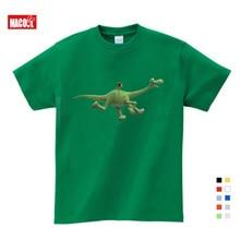 купить 2019 BOYS Clothing Summer Children Boys Cartoon Dinosaur Letter Print 100% Cotton T-shirt Tops Shirts Tee Summer Boy Clothes по цене 425.96 рублей