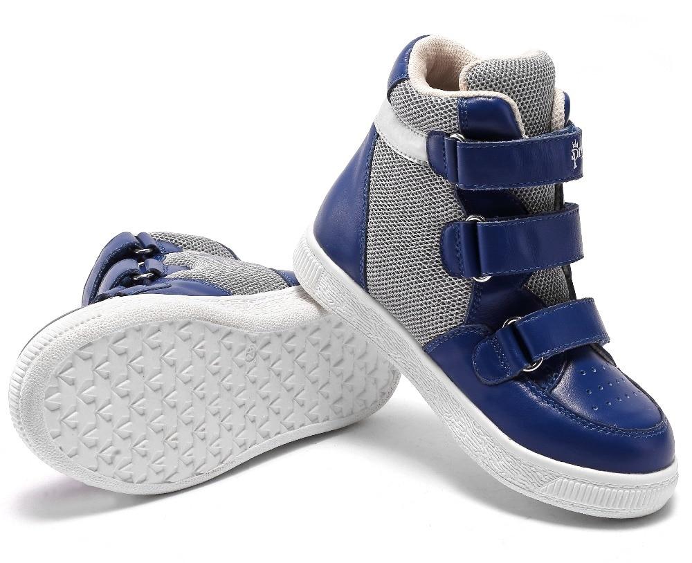 US $49.55 41% di SCONTO|Princepard 2018 Nuova primavera delle ragazze dei ragazzi rosanavy Cuoio Genuino ortopedico scarpe da ginnastica ortopedica
