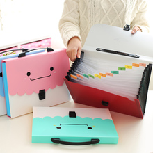 New smiley thick A4 test paper bag multi – layer file package information package organ bag multi – cell classification bag