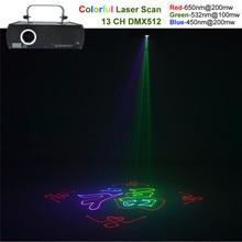 AUCD 500mW RGB Beam Animation Laser Program Source DMX Projector Stage Lighting PRO DJ Show KTV Club Scanner Lights DJ-500RGB