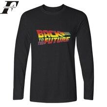 Zurück in die Zukunft Langarm Baumwolle T-Shirt Männer & frauen Luxus Drucken T shirts und Einstein T-shirt in Mode T-shirts Hüfte Hop