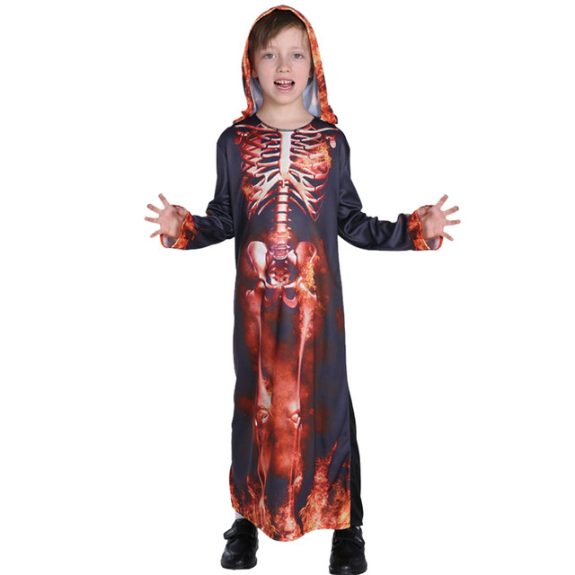 Halloween Kids Scary Costume Clothes Boys Girls Spooky Fancy Dress Children Halloween  Costumes Zombie Mummy Cosplay Clothing 356fde1527e4