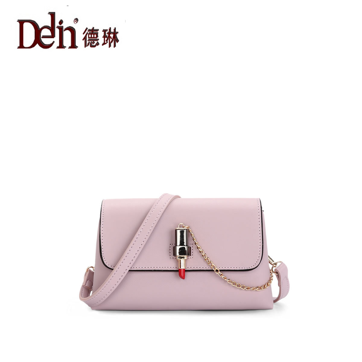 DELIN 2017 new Korean Chain Handbag diagonal bag Crossbody Bag ladies fashion lipstick single shoulder bag 943 perfect selling 2016 new korean chain diagonal fashion handbags handbag crossbody bag lady all match free shipping
