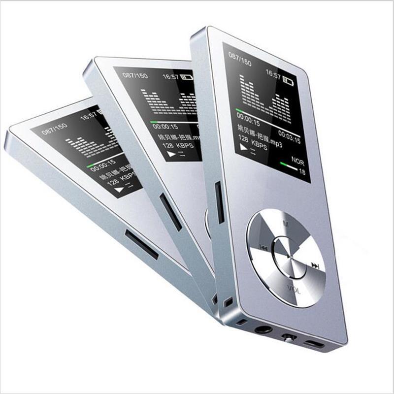 Reproductor de MP3 deportivo de 8GB / 16GB con reproductor de música sin pérdida de altavoz y video compatible con tarjeta de memoria de 128GB con radio FM, grabadora de voz