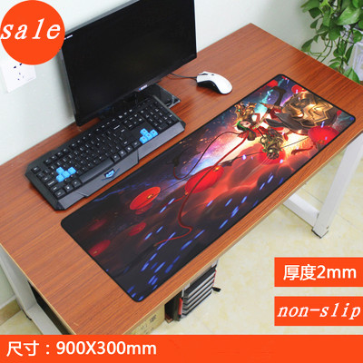 900x300x2mm large locking edge League of Legends gaming mouse pad non-slip table laptop mousepad to lol laptop mats for players