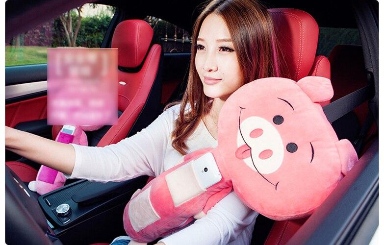 kids seat pets belt pads children car toy boy girl kitty pillow free shipping