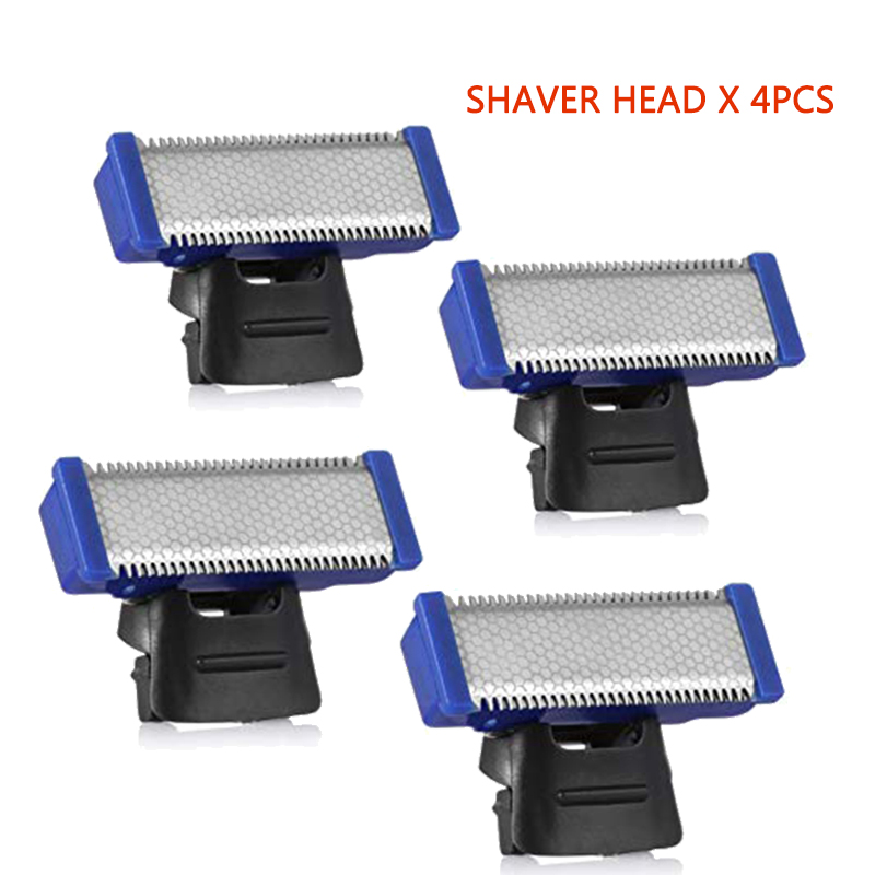 (4 PCS) Replacement Head For Electric Shaver Cleaning Trimmer Head Solo Trimmer Micro Touches Replacement Cutter Head