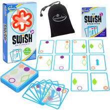 Swish logical thinking Card board games childrens puzzle party game toys for kids color shapes baby education learning
