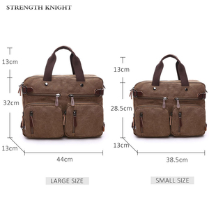 Image 2 - Retro Men Canvas กระเป๋าหนังกระเป๋าเอกสารกระเป๋าเดินทาง Messenger กระเป๋าสะพายด้านหลังกระเป๋าถือลำลองขนาดใหญ่ธุรกิจกระเป๋าแล็ปท็อป