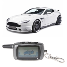 High Quality 1 Pc LCD Remote Controller Keychain 2-Way Car Alarm