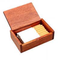 Cigarette Case Cigarette Handmade Rosewood Solid Wood High-end Vintage Card Case Gift Elegant Box car Cigarette Accessories