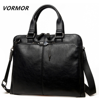 VORMOR Brand Men bag Casual men's briefcase shoulder Bags Laptop crossbody messenger bag men leather men's travel bags 2018
