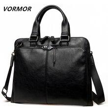 VORMOR Brand Men bag Casual men's briefcase 14 inch laptop H