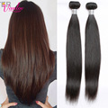 Natural Brown Malaysian Straight Hair Extension Human Hair Bundles 7a Unprocessed Straight Virgin Hair Cheap 1 PCS Jet Black