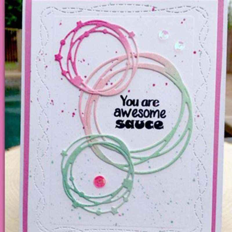 Linha anel diy corte de metal dados estêncil scrapbooking álbum carimbo cartão de papel artesanato decoração