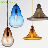 2016 newest colorful crystal hand made glass pendent lights for dining room E27 LED bar decor lamp AC90 260v N1241