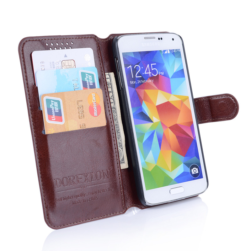Cover Case For HTC One M8 Luxury PU Leather Wallet Case For HTC One M8 Flip Cover with Stand Design and Card Slot Black Brown