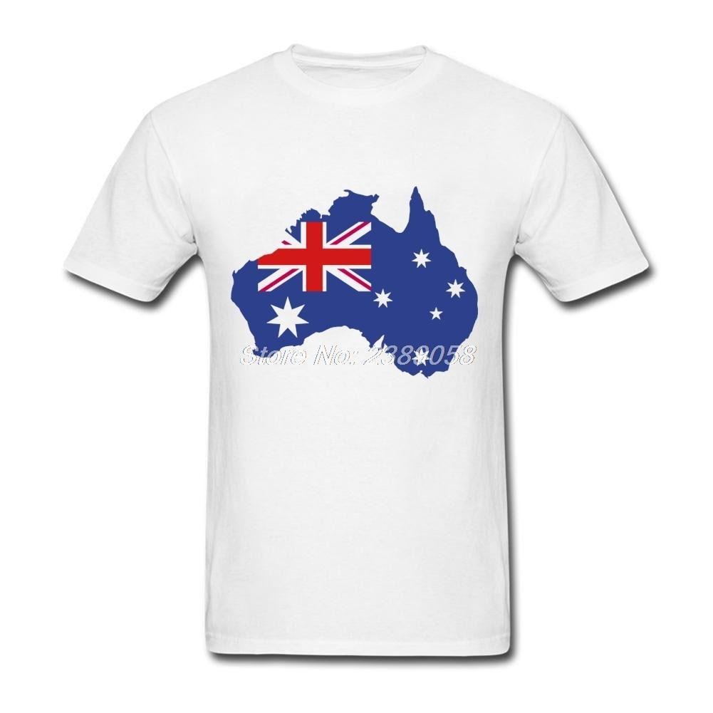 Design your own t-shirt in australia - Mens T Shirt Printing Unique Australia Shape Casual Tops Crew Neck Short Sleeve Men T Shirts