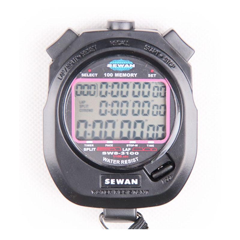 100 memorie Kronometri Elektronik Koha dixhitale Sport palestër sportive për ndalim shikimi Kronograf i kohëmatësit të intervalit metalik