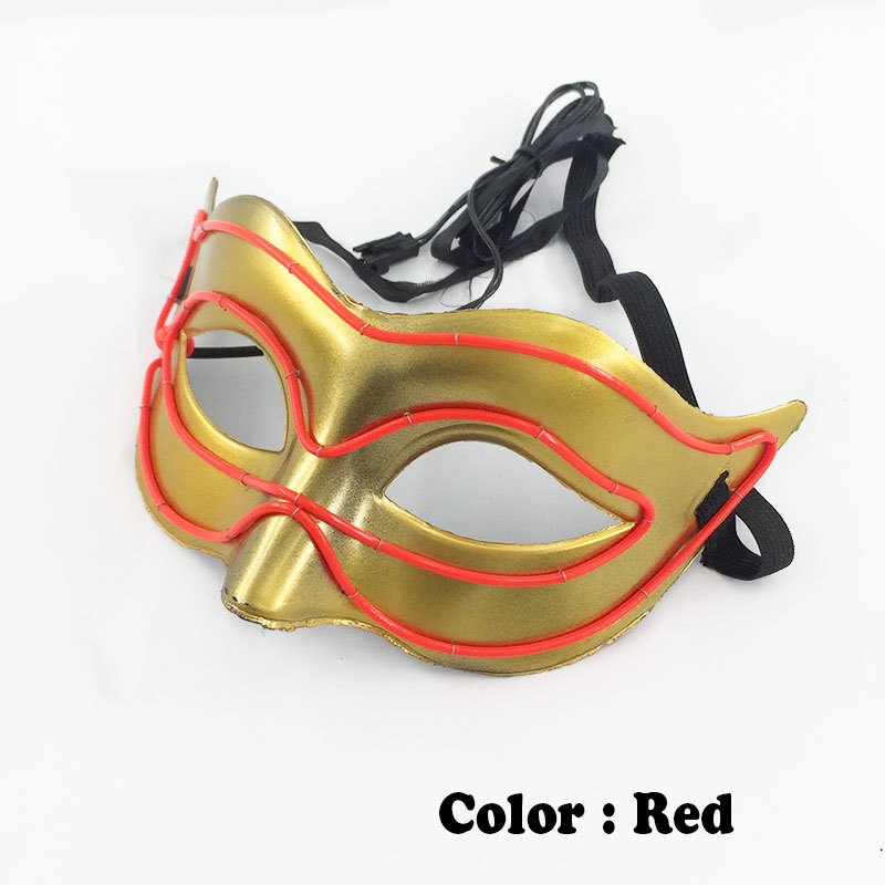 New Arrival Crazy Cosplay Trendy EL Wire Fox Mask Novelty Lighting New Year,Thanksgiving Sound Active Neon LED Mask For Party