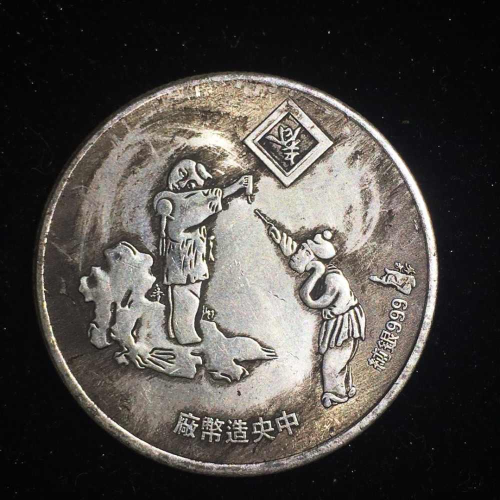 Trung Quốc Năm Mới Đồng Tiền Kỷ Niệm Linh Vật Cừu bản sao đồng Đại diện cho May Mắn May Mắn Đồng Tiền Sưu Tầm Ukraina monedas