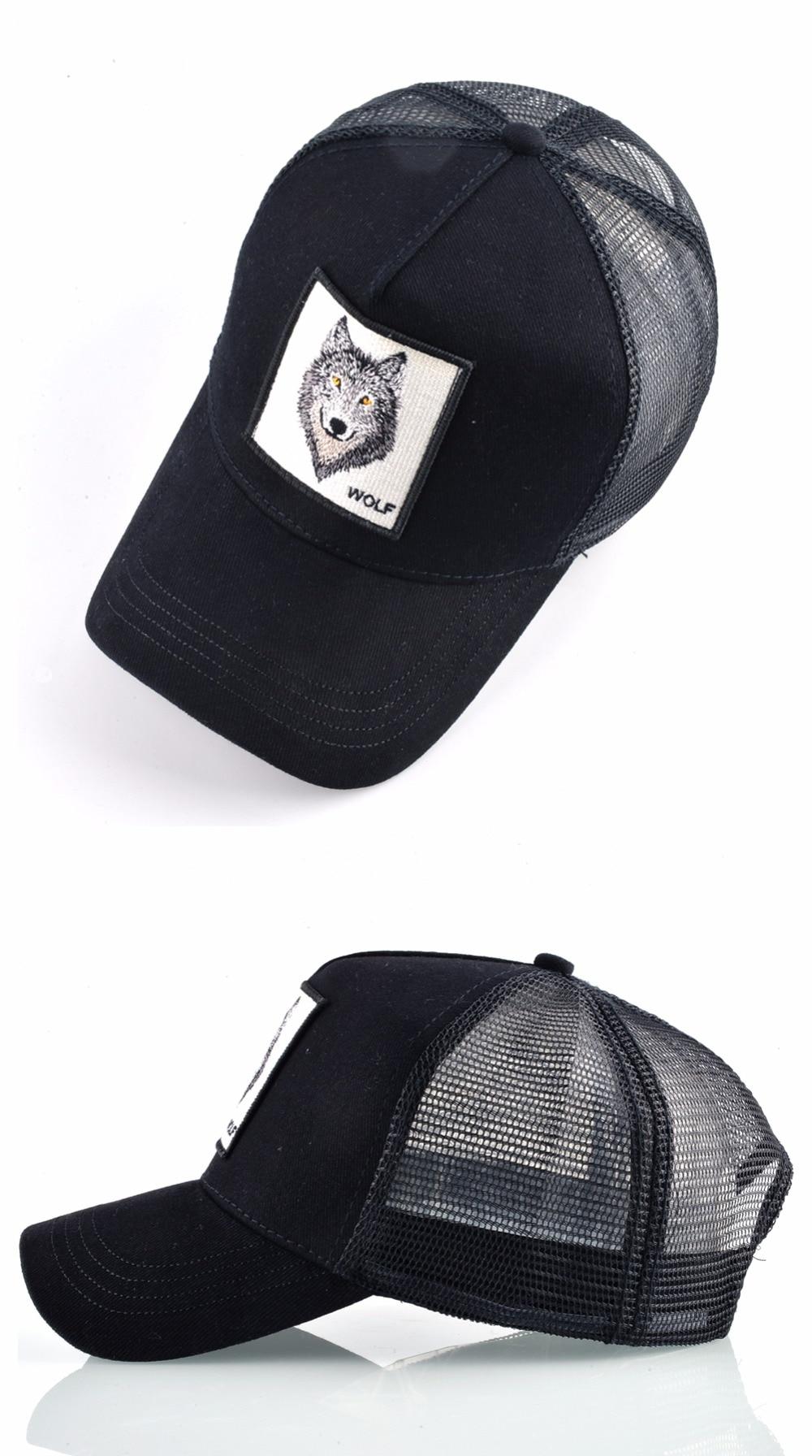 0286bbb7 Goorin Bros Animal Farm Trucker Snapback Baseball Hat Cap Black Wolf ...