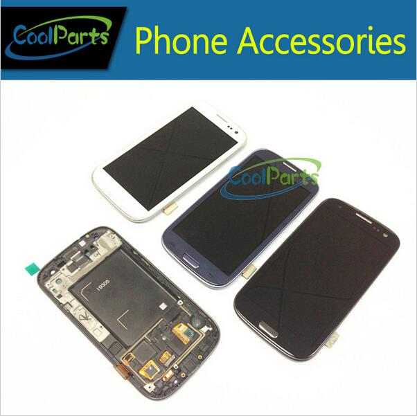 10PCS/Lot LCD Display and Touch Screen Digitizer Assembly Wtih Frame For Samsung Galaxy SIII S3 GT-i9305 i9305 4.8 Free DHL EMS