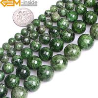AA Grade Round Natural Green Diopside Stone Gemstone Semi Precious Beads Selectable 7mm 8mm 10mm 12mm