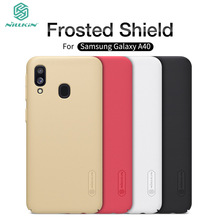 Nilkin For Samsung Galaxy A40 Case Cover Nillkin Frosted Shield Hard PC Back Phone Cover For Samsung Galaxy A40 nillkin protective matte frosted pc back case cover for samsung galaxy alpha g850f champagne gold