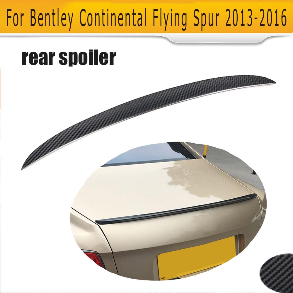 Carbon vlákno zadní kufr spoiler pro Bentley Flying Spur V8 Sedan 4 dveře pouze 13-16 spoiler spoiler auto díly
