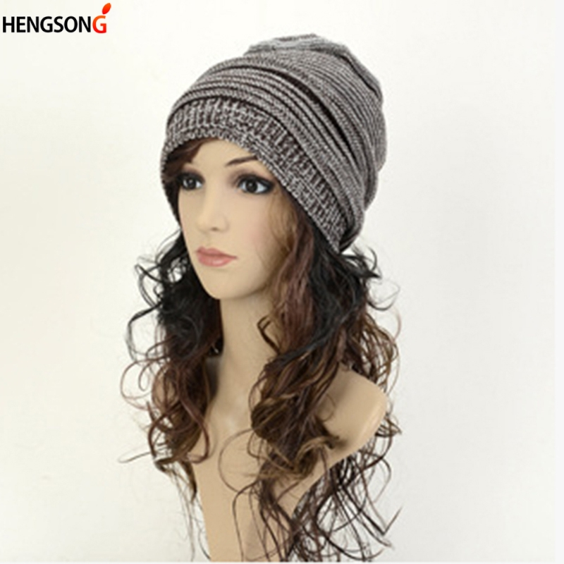 HENGSONG 2018 Women Winter Crochet Knit Cap Winter Fashion Beanies Warm Caps Female Knitted Stylish Hats For Ladies Fashion